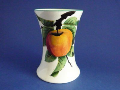 Small Wemyss Ware 'Apples' Beaker Vase c1910
